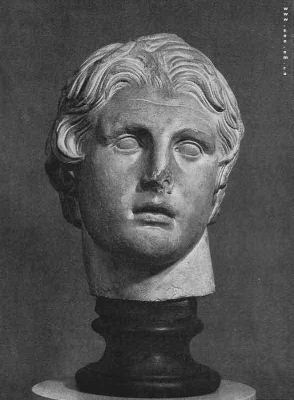 Искусство Древней Греции - Голова Александра Македонского с острова Коса.